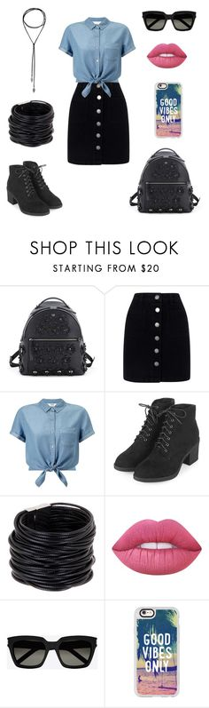 """""""Untitled #940"""" by wali-emna ❤ liked on Polyvore featuring Fendi, Miss Selfridge, Topshop, Saachi, Lime Crime, Yves Saint Laurent and Casetify"""