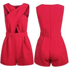 Fashion Rompers Women's V Neck Bodycon Jumpsuit