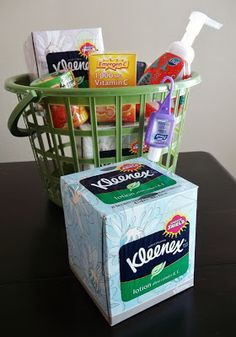 See how Momma Told Me puts together a Winter Get-Well/Stay-Well Gift Basket for cold and flu season, featuring Kleenex® Tissues with Lotion and other get-well items. Cute Gifts, Best Gifts, Get Well Baskets, Get Well Gifts, Diy Crafts For Gifts, Christmas Mom, Simple Gifts, Craft Sale, Creative Gifts