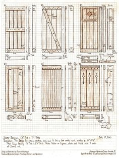 It looks like I'm going to be making some exterior shutters for a house this summer, so here's The Sunday morning design project: design six exterior shutters, 6 feet tall by 2 and a half feet wide...