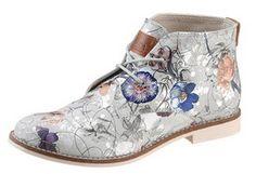s.Oliver Schnürboots mit stylischem Blumenprint