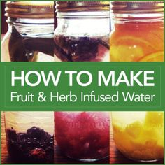 "Chris Freytag How To Make Fruit and Herb Infused Water » chrisfreytag.com We all know how important it is to stay hydrated when working out. But plain water is plain boring! So here's how to add a little ""kick"" to it by infusing it with herbs & fruits. Tastes great!"