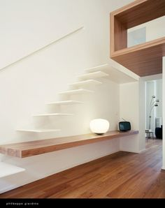architecture and arts — Nardi House Stairs designed by Studioata. Home Stairs Design, Interior Stairs, Interior Architecture, House Design, Interior Design, Modern Staircase, Staircase Diy, Outdoor Furniture Plans, Floating Stairs