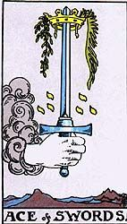 An in depth analysis of the Ace of Swords tarot card meanings and imagery. The first step may be the hardest, but the Ace of Swords gives you the courage to take this step. Rider Waite Tarot Cards, Tarot Significado, Ace Of Swords, Tarot Tattoo, Owl Wings, Sword Tattoo, Daily Tarot, Free Tarot, Tarot Card Meanings