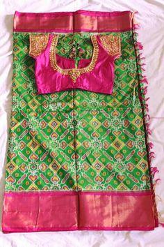 Lehenga Saree Design, Maggam Work Designs, 11 August, Silk Saree Blouse Designs, Designer Blouse Patterns, Tussar Silk Saree, Blouse Styles, Indian Sarees, Indian Outfits