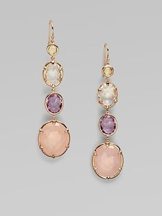 Ippolita  18K Gold & Sterling Silver Semi-Precious Multi-Stone Drop Earrings