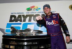 Denny Hamlin wins in a photo finish at Daytona