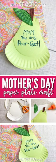 This Is the Pear-fect kids craft for Mother's Day! via @CraftCreatCook1