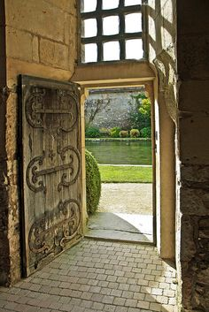 Hmmm perhaps a garden gate made in this fashion with the wooden boards horizontal or in a V shape