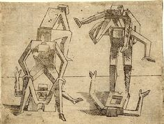 """""""Giovanni Battista Braccelli (c.1600-1650) was an Italian engraver and painter of the Baroque period, active in Florence. He is best known for his book of prints: Bizzarie di Varie Figure, published in 1624. The human shapes appear prescient of modern cubist experiments."""""""