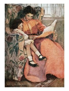 Mother and Daughter Reading by Jessie Willcox Smith