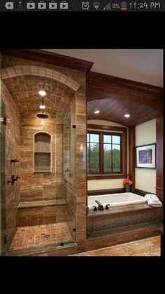 In a house, especially a large house must have a master bathroom. And the master bathroom has a larger size than the other bathrooms. And besides, the master bathroom is designed more elegant and m… Bathroom Design Luxury, Bath Design, Niche Design, Rustic Bathroom Designs, Spa Design, Design Room, Design Hotel, Bad Inspiration, Bathroom Inspiration