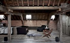 The attic of Vincent van Duysen, Antwerp -Images Elle Decor taken from www.vincentvanduysen.com