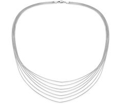 Seven Strand Necklace in Sterling Silver ($155)