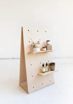 A Frame Display Birch Plywood Pegboard / Freestanding Shelving / Display Unit – pegboard ideas Wood Shelving Units, Plywood Shelves, Plywood Walls, Market Displays, Craft Show Displays, Merchandising Displays, Frame Display, Display Design, Display Window