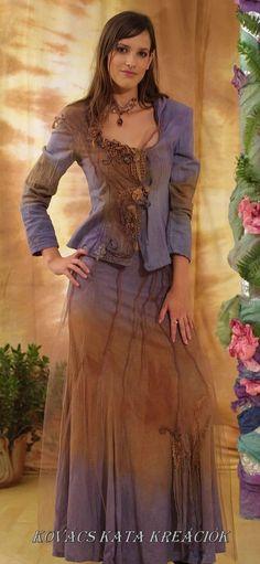 Handpainted bohemian twopart dress by KataKovacs on Etsy, $260.00