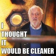 """When the usual first reaction to the TARDIS is, """"It's bigger on the inside,"""" Wilfred has other priorities."""
