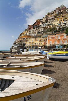 Colorida ciudad de Positano, Costa de Amalfi (Costa Amalfitana), patrimonio de la humanidad, Campania, Italia, Mediterráneo, Europa