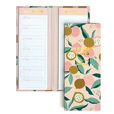 Amazon.com : Elum Designs Deco Weekly Eats Long List Pad (PLP01) : Gateway Notebook Cover Design, Cool Notebooks, Cute School Supplies, Stationary Design, Study Planner, Cute Stationery, Printable Planner, Paper Goods, Stationeries