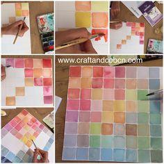 La de tonos y tonos de gamas de colores que puedes sacar con un ratito de acuarelas... #watercolors#acuarelas#illustratiom#estampados#colores