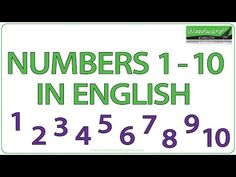 "The numbers from 1 to 10 in English including practice. This video was made with adults in mind, without all the ""cutesy"" things that appear when made for young children. Having said that, it is still appropriate both for adults and kids. Learn English Grammar, English Vocabulary Words, English Lessons, Woodward English, Ell Students, Numbers 1 10, Teaching Skills, Real Life, Education"