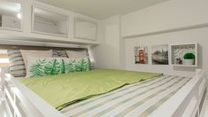 This unit proves that it's possible to live comfortably in a tiny space Condo Interior Design, Condo Design, Interior And Exterior, House Tours, The Unit, Bed, Room, Furniture, Ideas