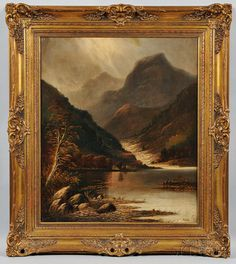 Anglo-Canadian School, 19th Century      Landscape with Mountain and Lake