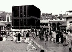 An early picture. MashaAllah, quite different today. Kabah. Masjid al haraam. Mecca. Makkah. Islam.