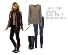 """""""Harry Potter Imagine Series Part 3 ~ Imagine In Description"""" by hanakdudley ❤ liked on Polyvore featuring Mode, J Brand, ATM by Anthony Thomas Melillo und Burberry"""