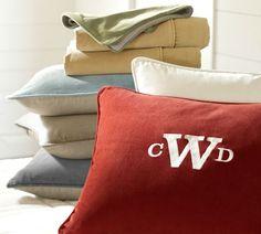 Velvet Linen Duvet Cover & Sham | Pottery Barn in red oak full/queen for boys bedroom