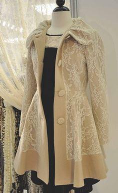 Abrigo vintage outfit.
