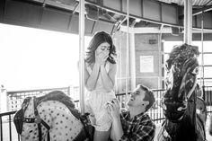 Surprise carousel proposal! Photography: Chrissy Vensel Photography - www.chrissyvenselphotography.com/  View entire slideshow: Cutest Proposal Stories on http://www.stylemepretty.com/collection/545/