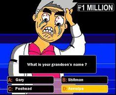 Professor Oak on Who Wants to be a Millionaire. pokemon comic ^o^