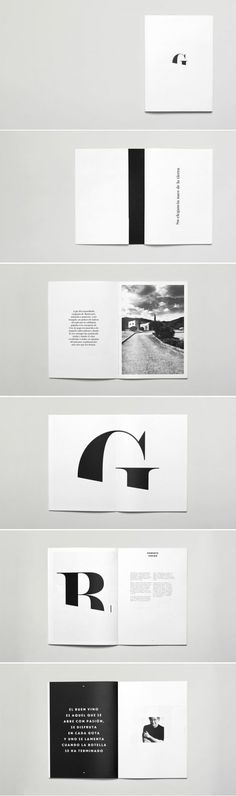 clean design for a pull quote & interesting monogram