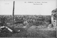 WW1, Battle of the Somme, 1916 -Ruins of Combles.