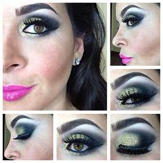 Gold and Black Makeup!