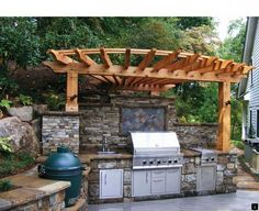 """See our internet site for more info on """"outdoor kitchen designs layout"""". It is an outstanding spot for more information. : See our internet site for more info on """"outdoor kitchen designs layout"""". It is an outstanding spot for more information. Big Green Egg Outdoor Kitchen, Outdoor Kitchen Patio, Outdoor Kitchen Design, Outdoor Living, Outdoor Decor, Outdoor Kitchens, Outdoor Grill Area, Bbq Area, Parrilla Exterior"""