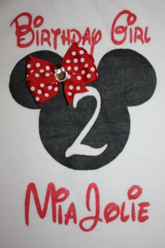 Custom Hand Painted Minnie Mouse Birthday Girl by layniebugdesign