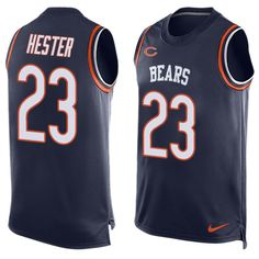 Men's Nike Chicago Bears #23 Devin Hester Limited Navy Blue Player Name & Number Tank Top NFL Jersey