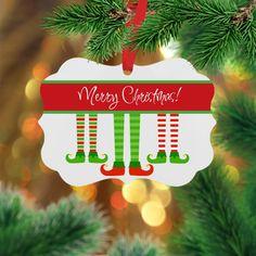 Personalized Elf Ornament