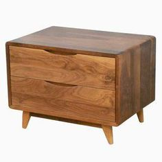 Drawer Danish Modern Nightstand (Item 2D617) $385 furniturebyphoenix ...