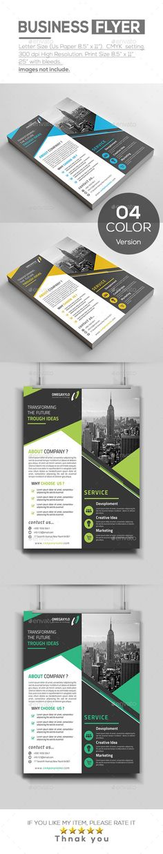 Corporate Business Flyer Design Template - Corporate Flyers Design Template PSD. Download here: https://graphicriver.net/item/business-flyer/19388099?ref=yinkira