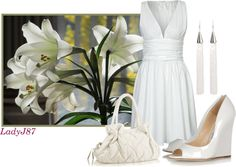 """Pretty In White"" by ladyj87 ❤ liked on Polyvore"