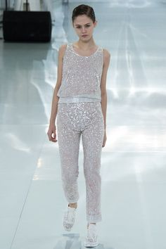 Chanel Spring 2014 Couture Collection Slideshow on Style.com  So hideous, but I swear I would wear this :/