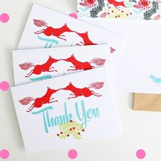 Boxcitement thank you cards - available as part of their subscription box service