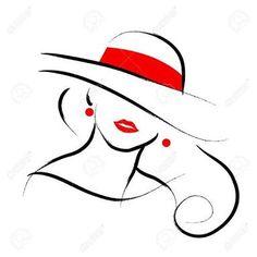 Resultado de imagem para silhueta de mulheres com chapeu