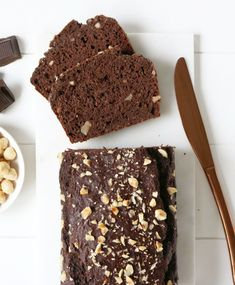 Chocolade Bananenbrood Healthy Banana Bread, Best Banana Bread, Banana Bread Recipes, Avocado Cake, Avocado Brownies, Bread Cake, Dessert Bread, Cake Recept, Chocolate Day