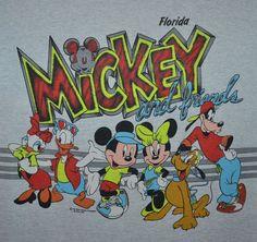 Vintage 90s Mickey Mouse Friends T Shirt Disney Florida Goofy Donald Duck XL   eBay