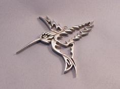 Tribal Hummingbird pendant 3d printed