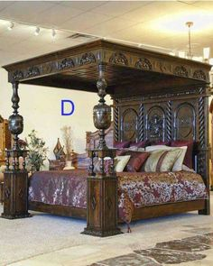 Antique ornate bed
